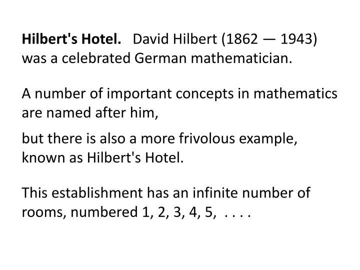 Hilbert's Hotel.