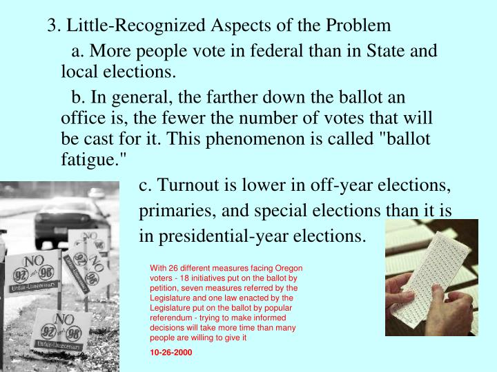 3. Little-Recognized Aspects of the Problem