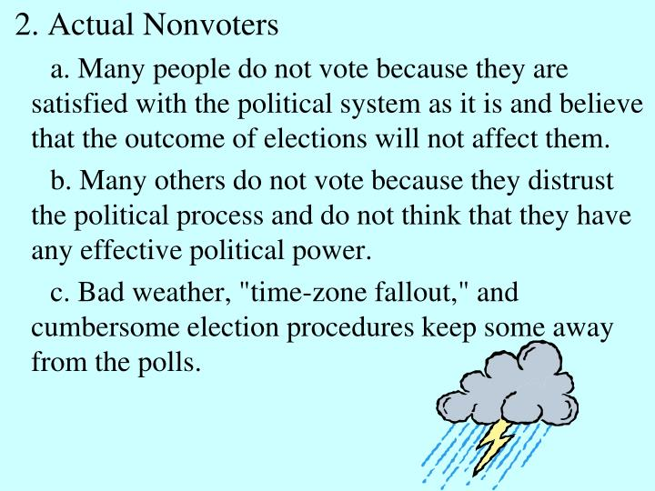 2. Actual Nonvoters