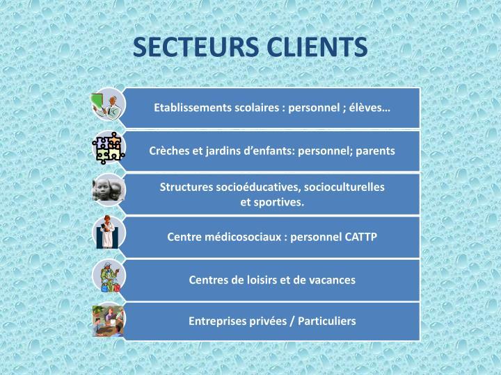 SECTEURS CLIENTS