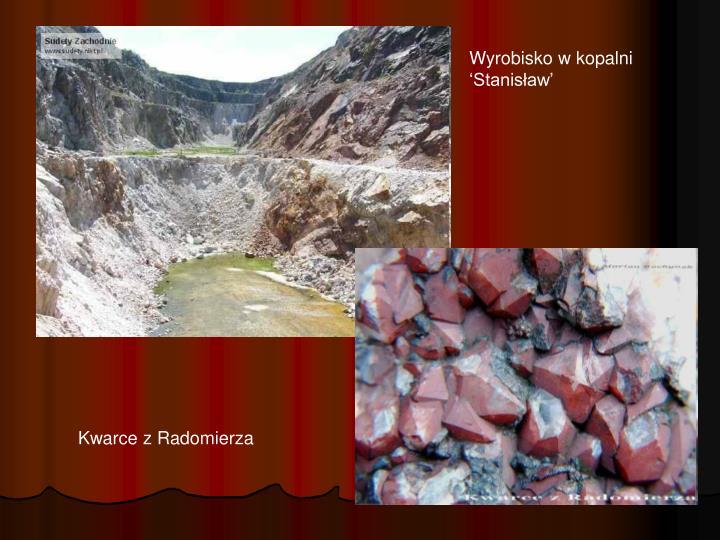 Wyrobisko w kopalni 'Stanisław'