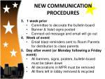 new communication procedures1