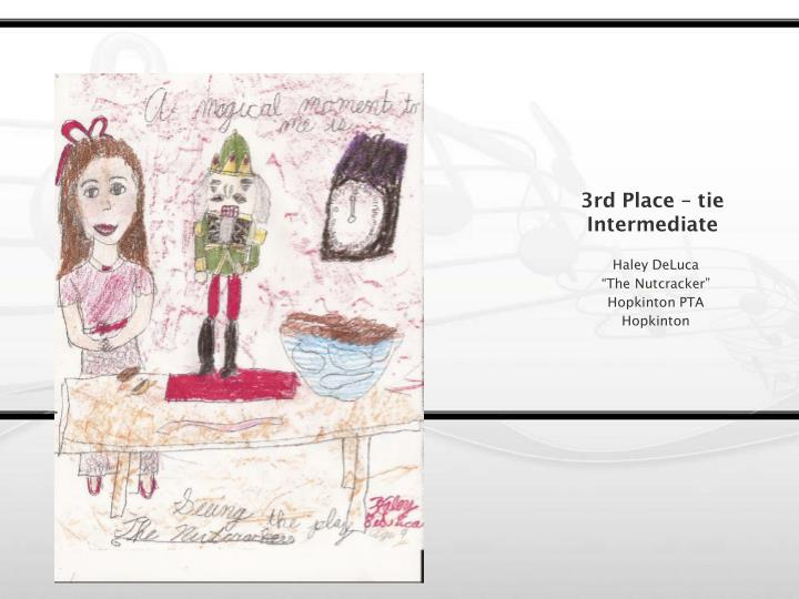 3rd Place – tie