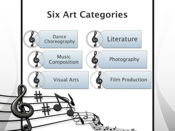 Six art categories