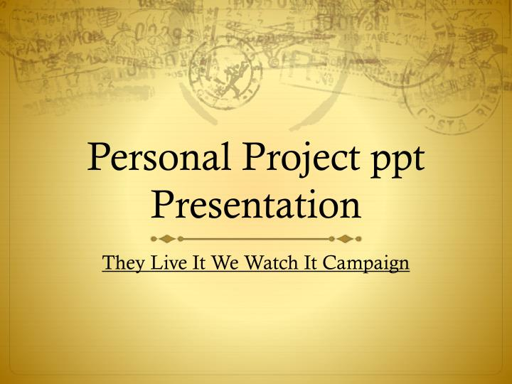 personal project ppt presentation n.