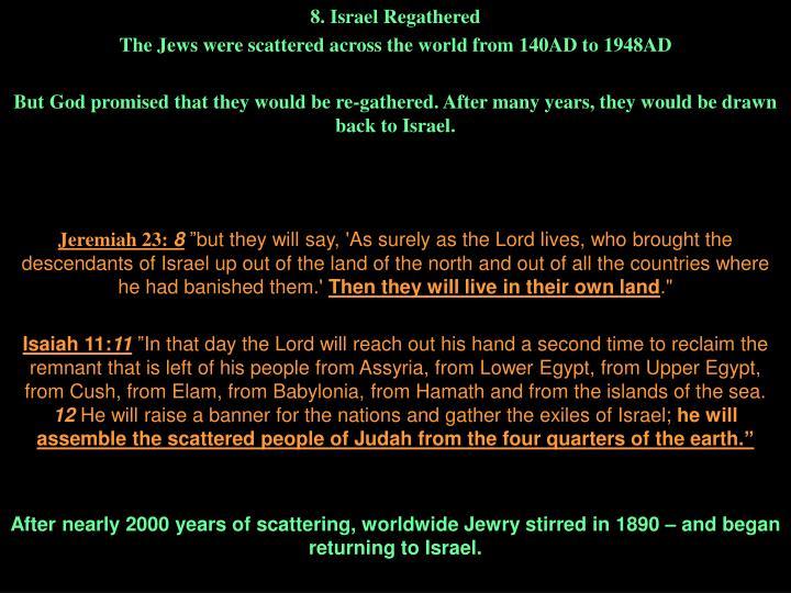 8. Israel Regathered