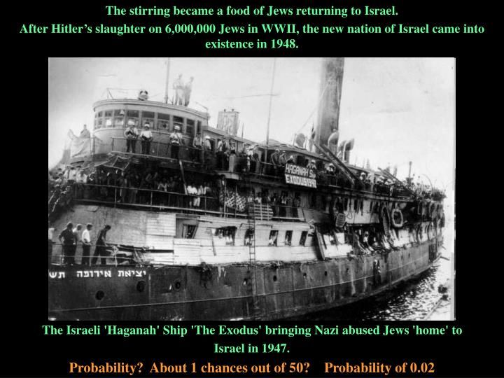 The stirring became a food of Jews returning to Israel.