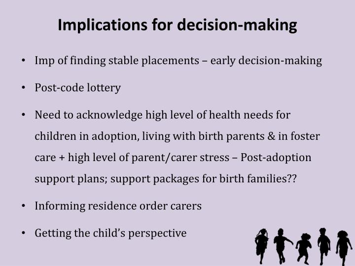 the role of decision making in How emotions affect decision-making our environment, family background, education, life experiences and everything related to us play a very important role in keeping our emotions positive or negative if your family and friends are cheerful and can boost you up when you are feeling negative.
