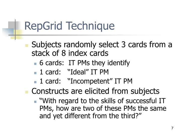 RepGrid Technique