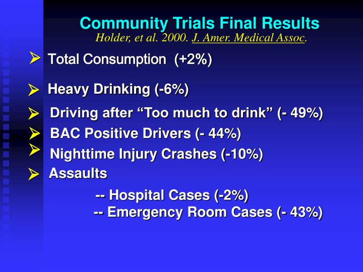 Community Trials Final Results
