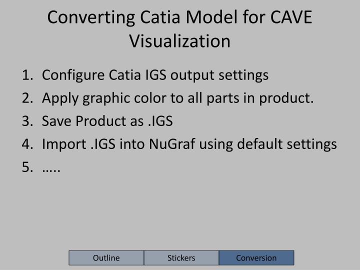 Converting Catia Model for CAVE Visualization