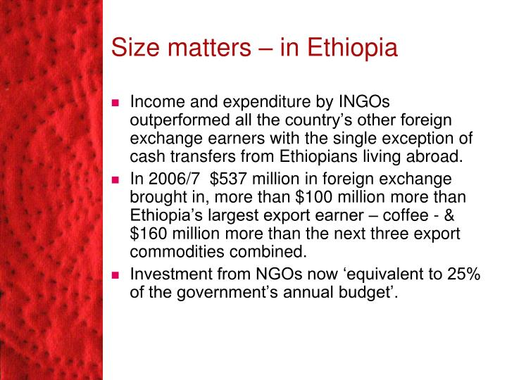 Size matters – in Ethiopia