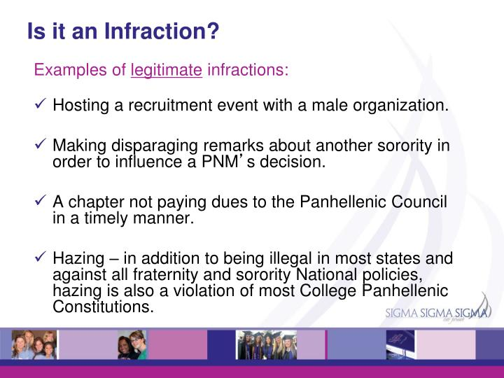 Ppt Panhellenic Education Infractions Powerpoint Presentation Id