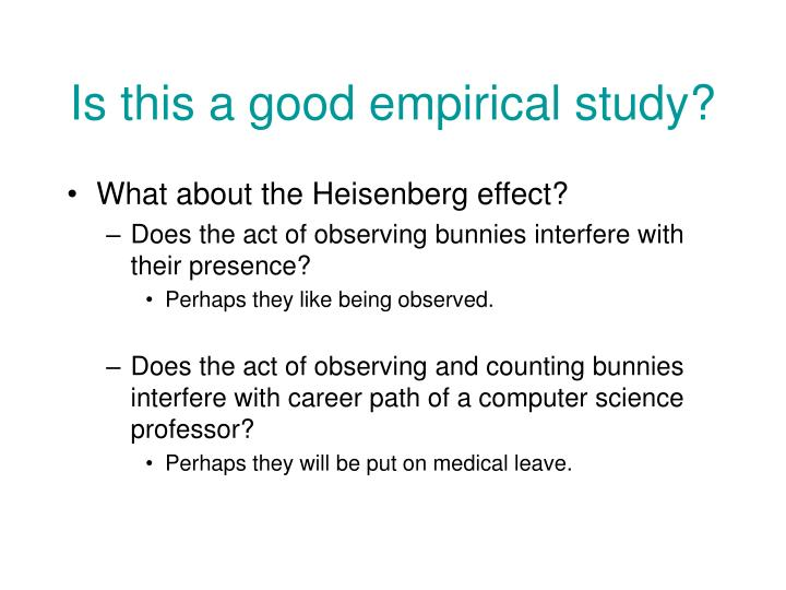 Is this a good empirical study?