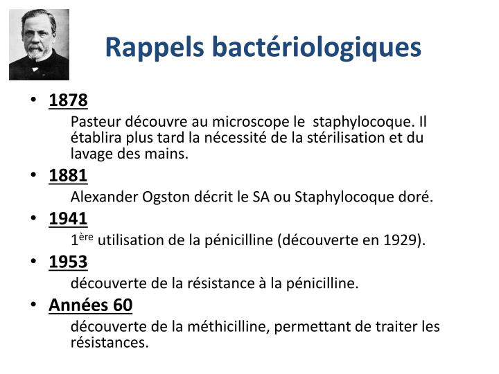 Rappels bactériologiques
