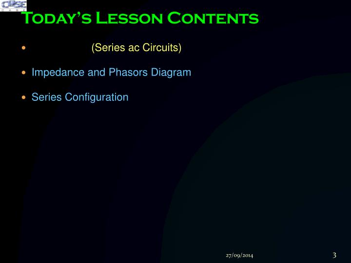 Today s lesson contents