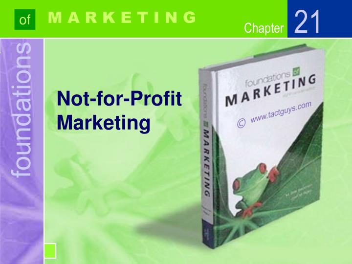 not for profit marketing n.