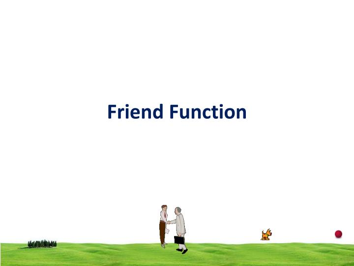 friend function n.