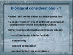 biological considerations 1