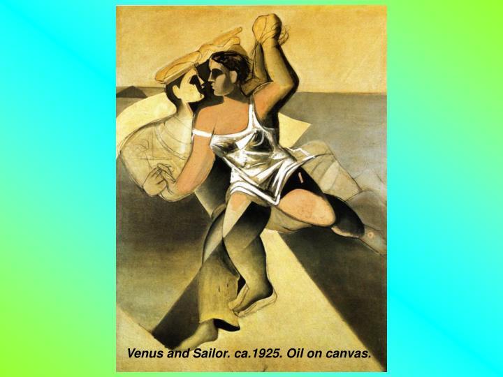 Venus and Sailor. ca.1925. Oil on canvas.