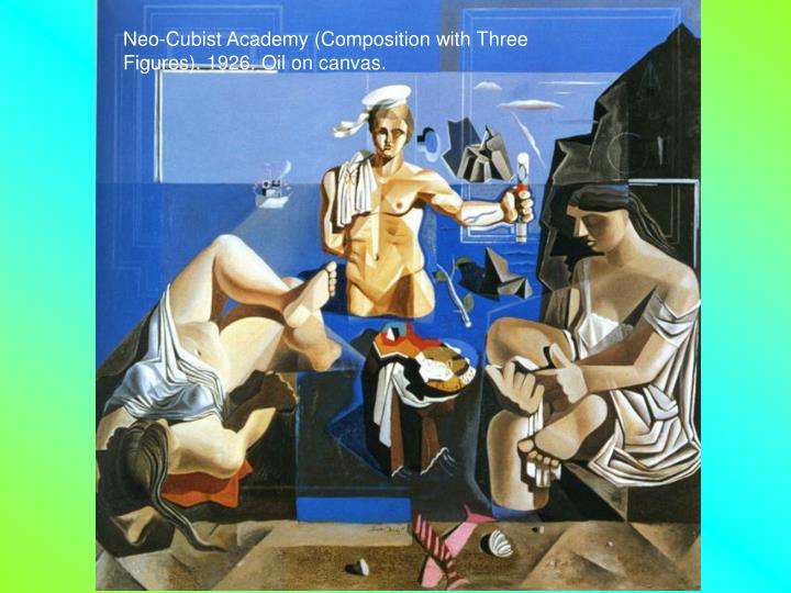 Neo-Cubist Academy (Composition with Three Figures). 1926. Oil on canvas.