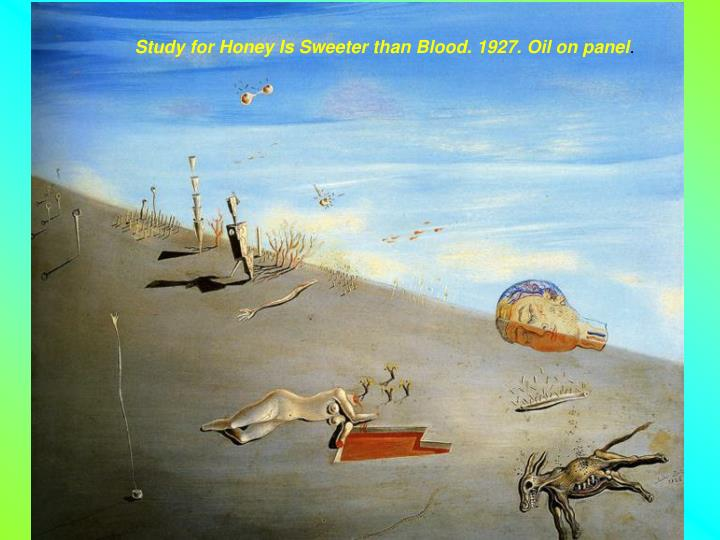 Study for Honey Is Sweeter than Blood. 1927. Oil on panel
