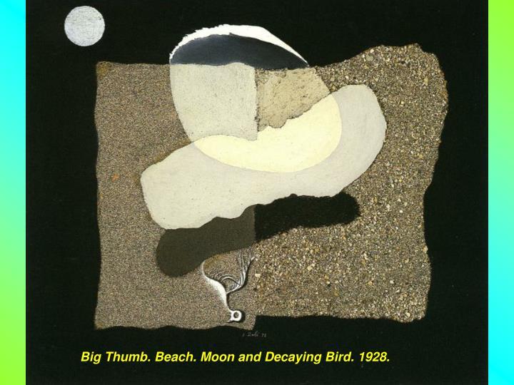 Big Thumb. Beach. Moon and Decaying Bird. 1928.