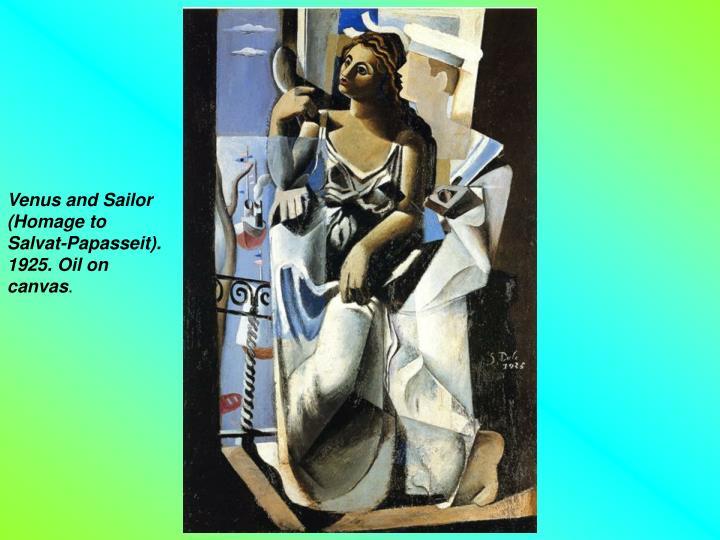 Venus and Sailor (Homage to Salvat-Papasseit). 1925. Oil on canvas