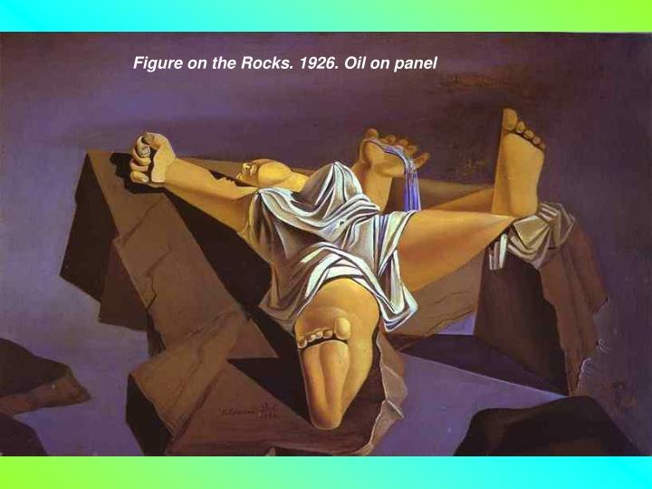 Figure on the Rocks. 1926. Oil on panel