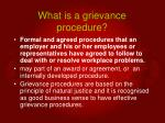 what is a grievance procedure