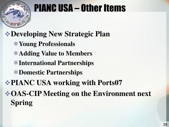 PIANC USA – Other Items