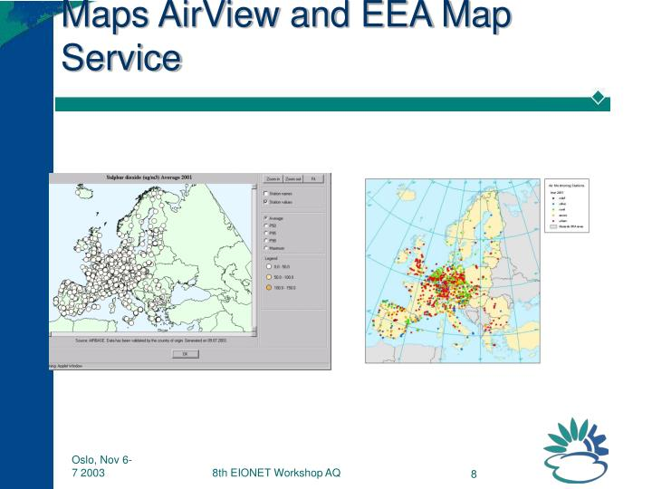 Maps AirView and EEA Map Service