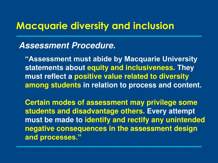 Macquarie diversity and inclusion