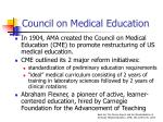 council on medical education
