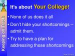 it s about your college1