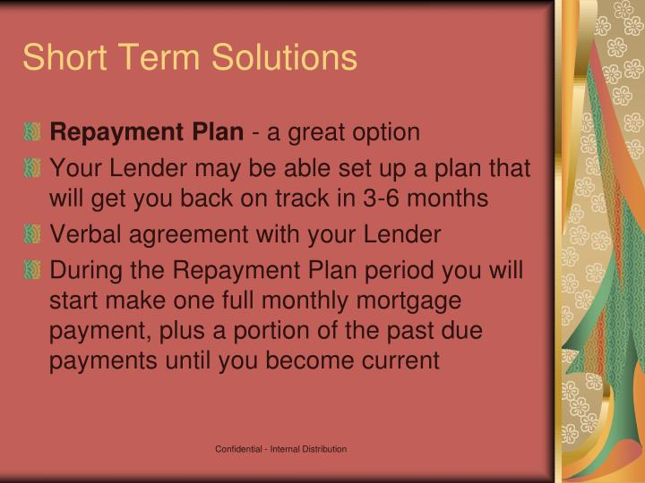 Short Term Solution : Ppt you ve got the power foreclosure prevention