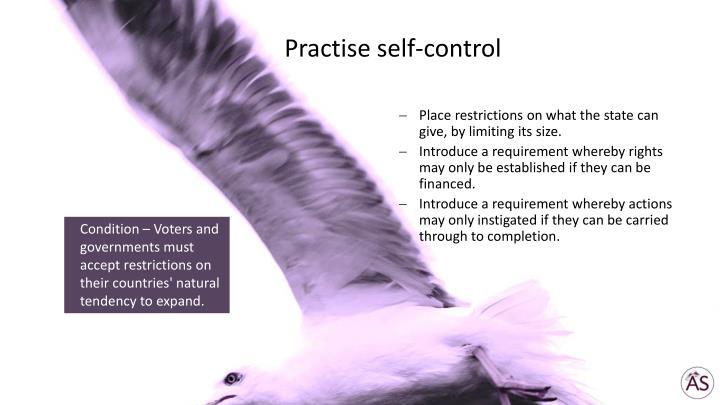 Practise self-control