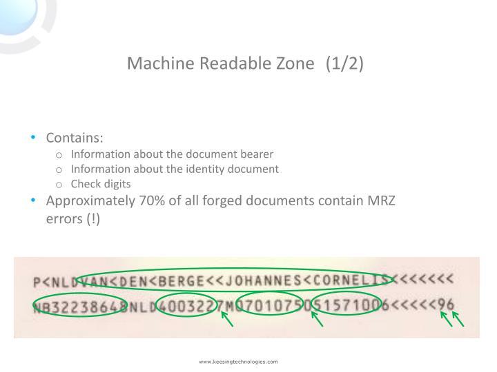 Machine Readable Zone