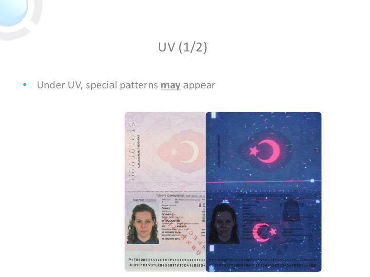 Under UV, special patterns