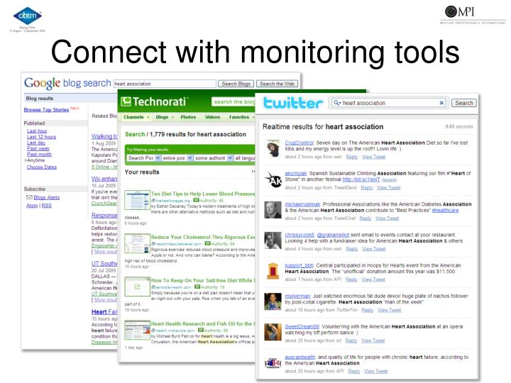 Connect with monitoring tools