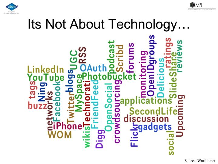 Its Not About Technology…