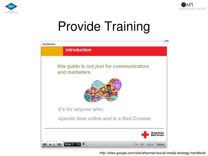 Provide Training
