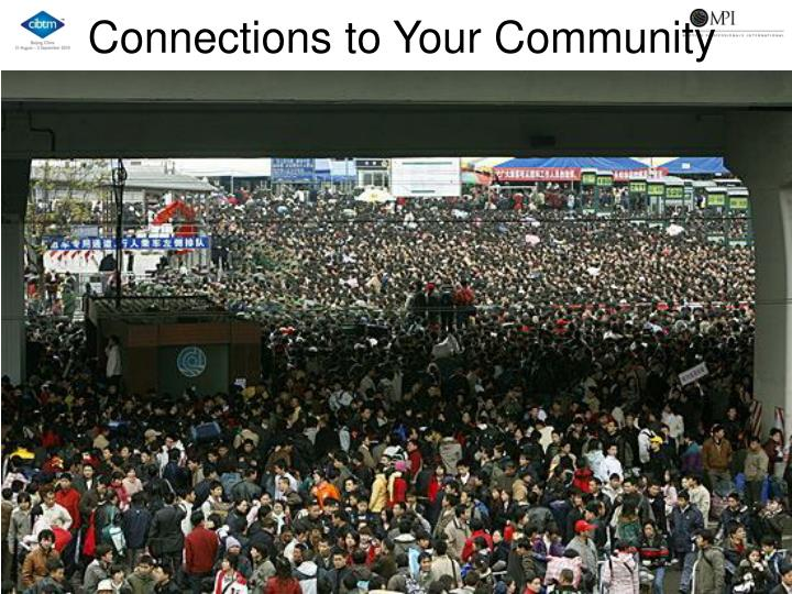 Connections to Your Community