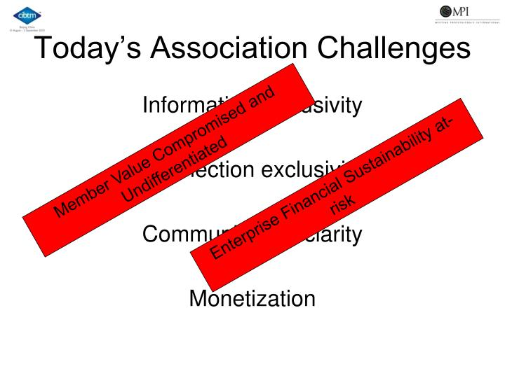 Today s association challenges