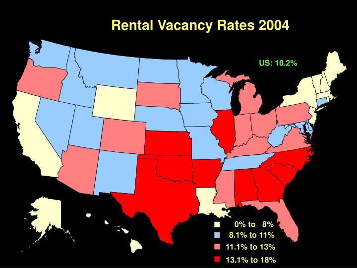 Rental Vacancy Rates 2004