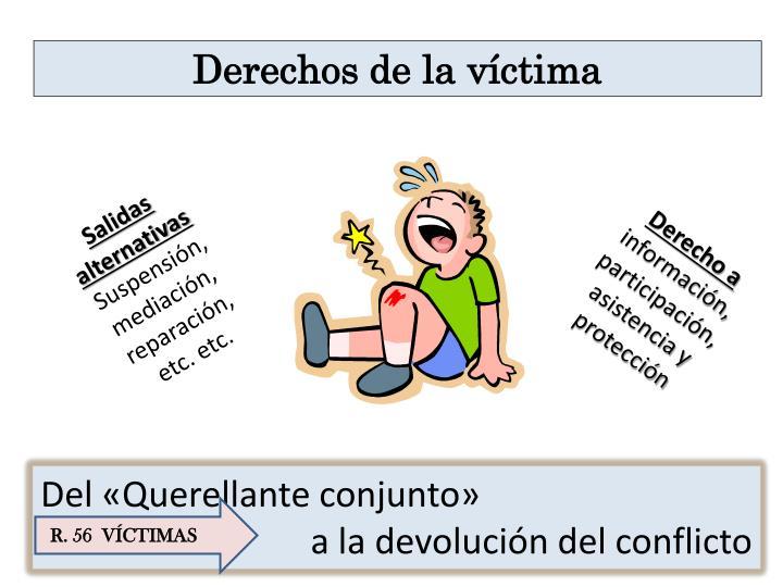 Derechos de la víctima