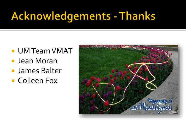 Acknowledgements - Thanks