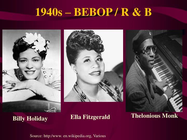 bebop in the 1940s