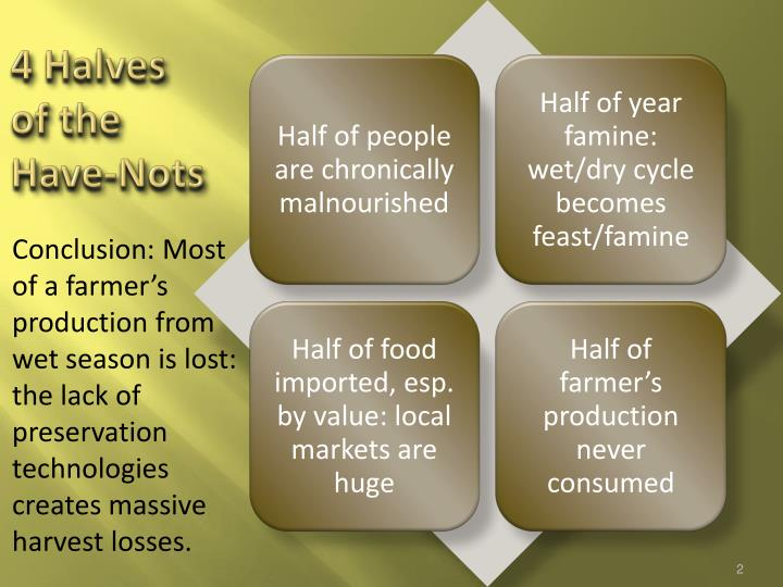 4 halves of the have nots