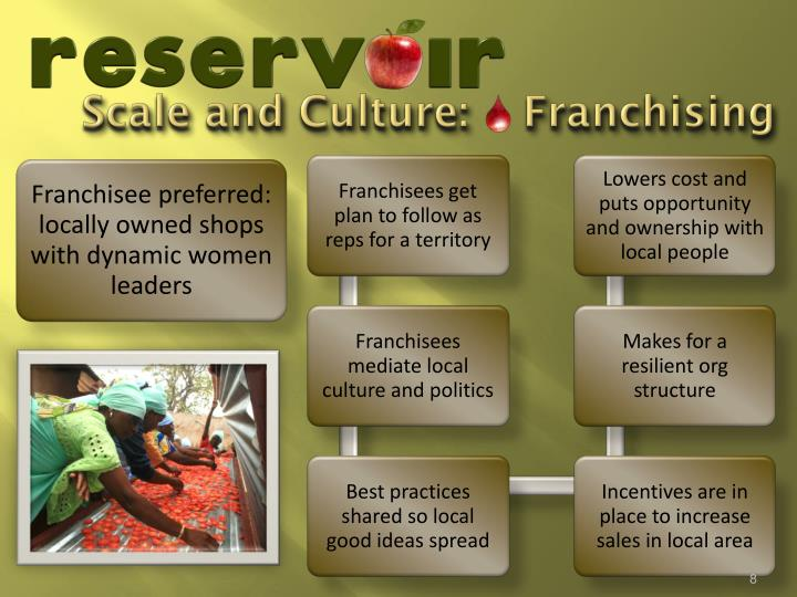 Scale and Culture:    Franchising